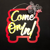 Come on in Truck! Border Customizable Painted Custom Home Decor