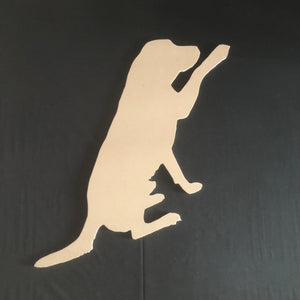 Labrador with paw Wooden Cutout Wood, Door Hanger Wooden Blank