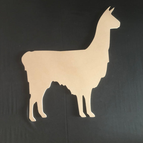 Llama Wooden Cutout Wood, Door Hanger Wooden Blank