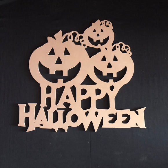 Happy Halloween Jack-O-Lantern Pumpkins  Wooden Door Hanger Unfinished Craft Shape