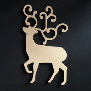 Fancy Deer Wooden Cutout Wood, Door Hanger Wooden Blank