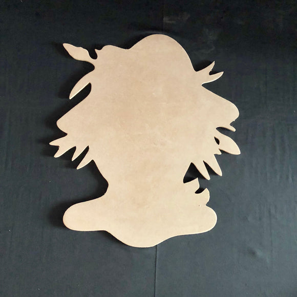 Scarecrow Head Wooden Cutout Wood, Door Hanger Wooden Blank