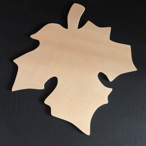 Autumn Leaf Fall Cutout Wood, Door Hanger Wooden Blank