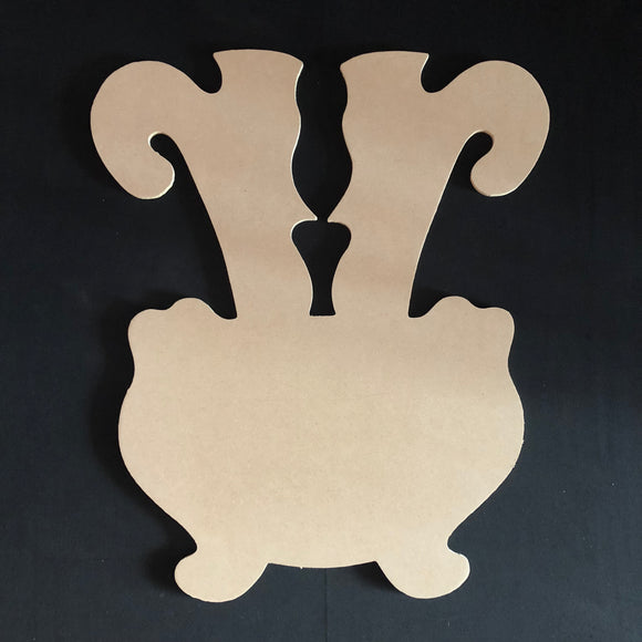 Withes Legs in Cauldron Cutout Wood, Door Hanger Wooden Blank