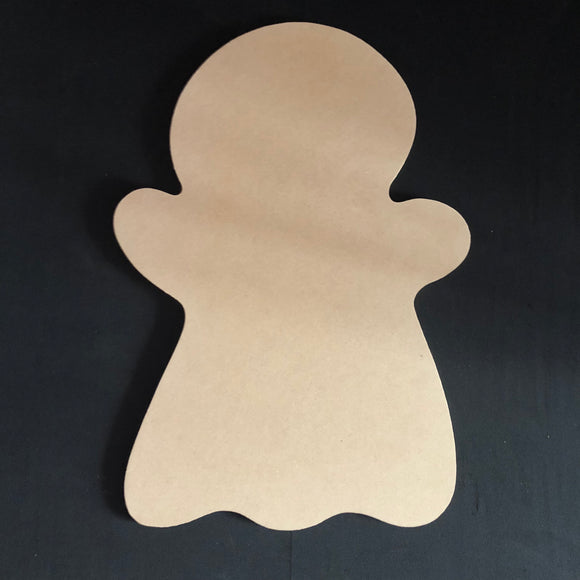 Ghost Halloween Cutout Wood, Door Hanger Wooden Blank
