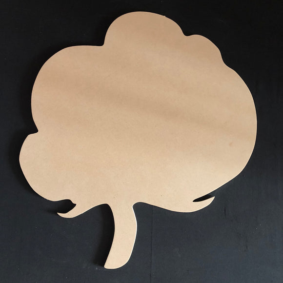 Cotton Fall Cutout Wood, Door Hanger Wooden Blank