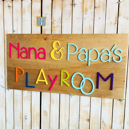 Grandparents Playroom, Choose your colors,  Customizable,  Home Decor