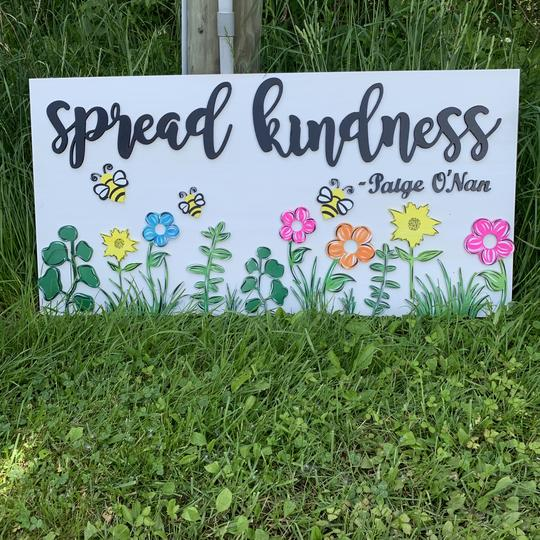 Spread Kindness Choose your colors,  Customizable,  Home Decor
