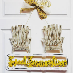 Sweet Summertime,  Summer Decor, Craft Shapes, Wooden Cutouts