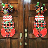 Triple Stack Pumpkin Door Hanger, Fall Decor Thanksgiving Customizable Door Hanger