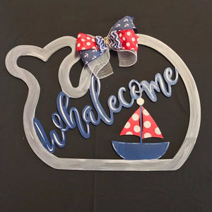 Whalecome, Summer Decor, Craft Shapes, Wooden Cutouts