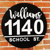 House Address with family name, Wood cut-out Numbers , Porch Sign, Wall Art Sign, Home Decor, Porch Decoration