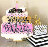 Birthday Cake Wood Design , Craft Shapes, Wooden Cutouts