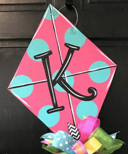 Kite Door Hanger,  Summer Decor, Craft Shapes, Wooden Cutouts