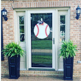 Baseball Door Hanger, College Sports Highscool Team Home Decor, Customizable