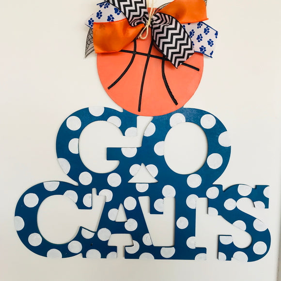Go Cats Basketball , Any College Sports Home Decor, Customizable