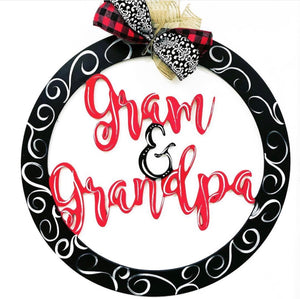 Grandparents Home Decor Customizable Door Hanger