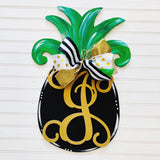 Pineapple Monogram Letter Overlay ,  Summer Decor, Craft Shapes, Wooden Cutouts