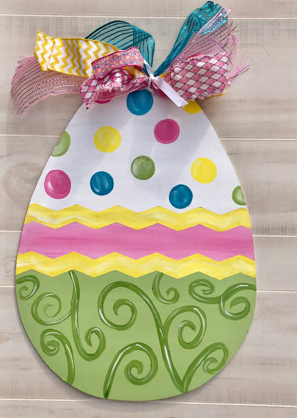 Easter Egg wooden door hanger