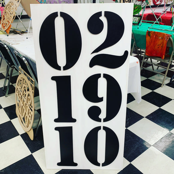 Vertical 2'x4' Special Date, Home Decor, Wedding