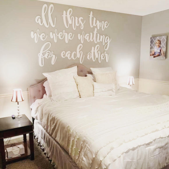 All this time we were waiting for each other, Set of words, Home Decor, Painted