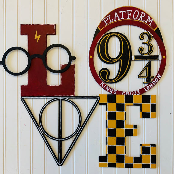 Harry Potter Love Wall Art Sign, Home Decor, Kids bedroom