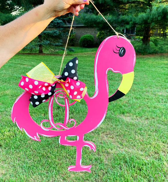 Flamingo with Monogram , Summer Decor, Craft Shapes, Wooden Cutouts