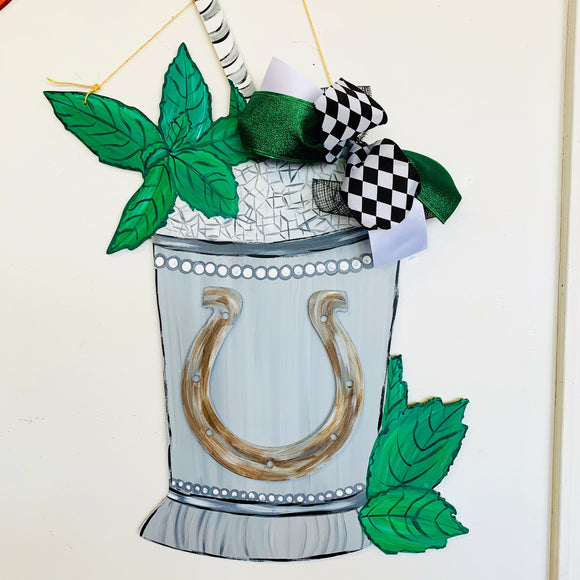 Mint Julep cup, Spring Derby Decor, Craft Shapes, Wooden Cutouts