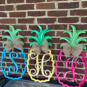Pineapple Monogram Letter,  Summer Decor, Craft Shapes, Wooden Cutouts