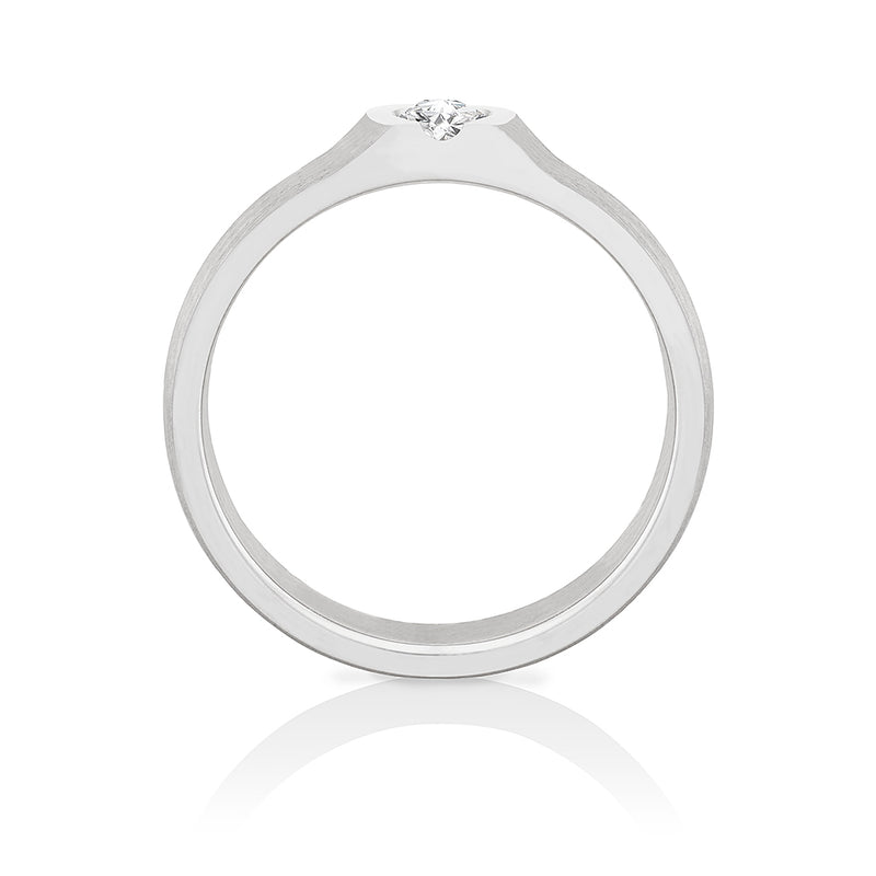 "Solitaire-Ring ""Vulkan"" mit 0,25ct. Diamant"