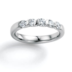 Memoire-Ring · 5 Diamanten (0,55ct.) · 31-5040/011