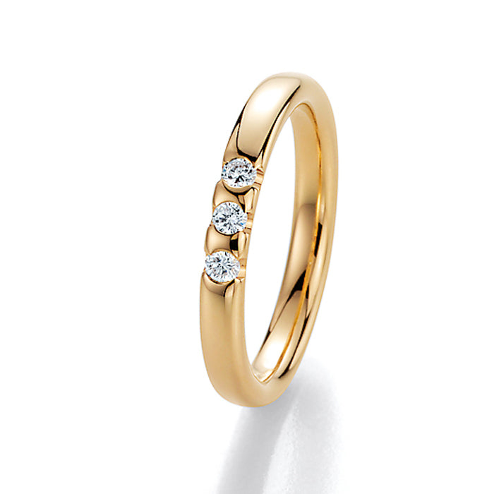 Memoire-Ring · 3 Diamanten (0,12ct.) · 31 3950/040