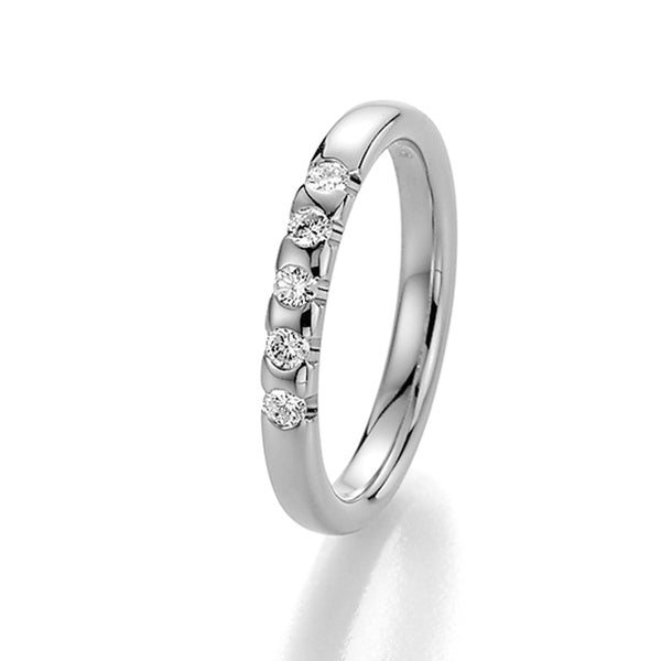 Memoire-Ring · 5 Diamanten (0,25ct.) · 31-3950/040