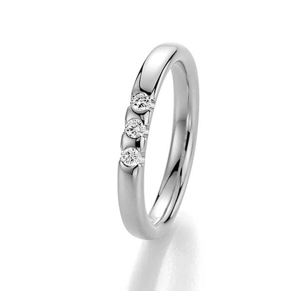 Memoire-Ring · 3 Diamanten (0,12ct.) · 31-3950/040