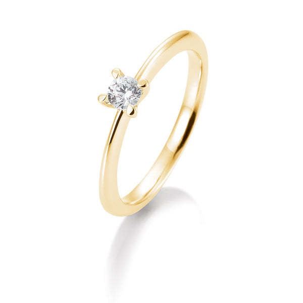 Solitaire-Ring · 4er Krappe · 0,40ct · 41056380