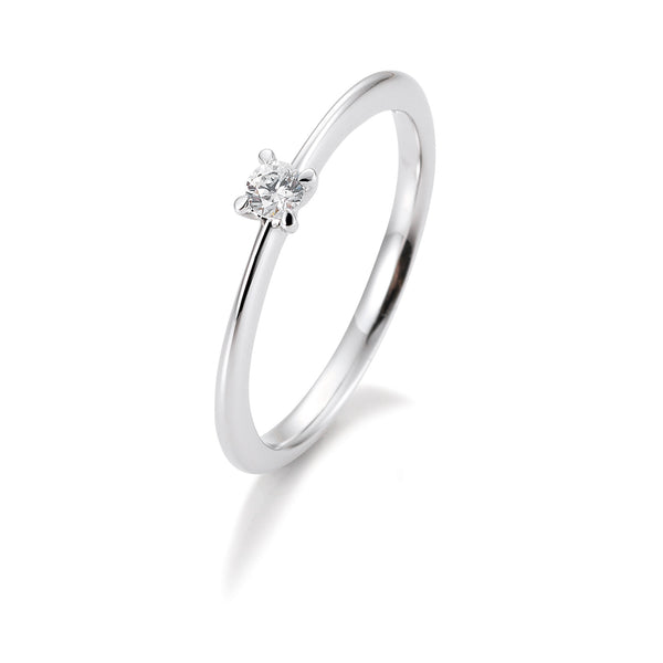 Solitaire-Ring · 4er Krappe · 0,15ct · 41056340