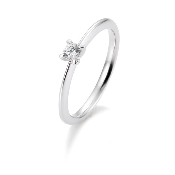 Solitaire-Ring · 4er Krappe · 0,25ct · 41056360