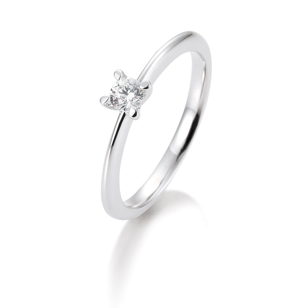 Solitaire-Ring · 4er Krappe · 0,30ct · 41056370