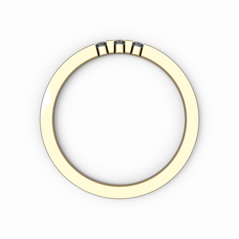 Memoire-Ring mit 3 Diamanten in Balkenfassung (insg. 0,06ct.)