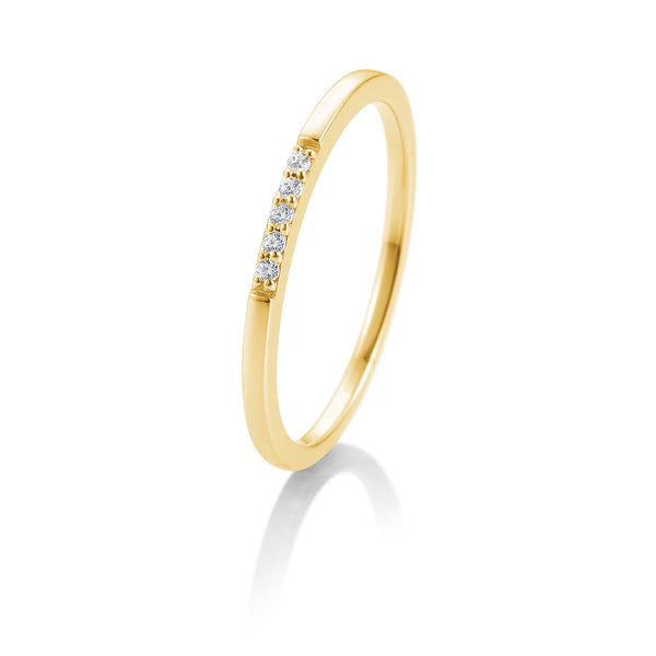 Memoire-Ring · Verschnittfassung · 0,038ct · 41880180