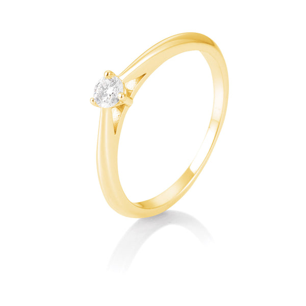 Solitaire-Ring · 3er Krappe · 0,15ct · 41866230