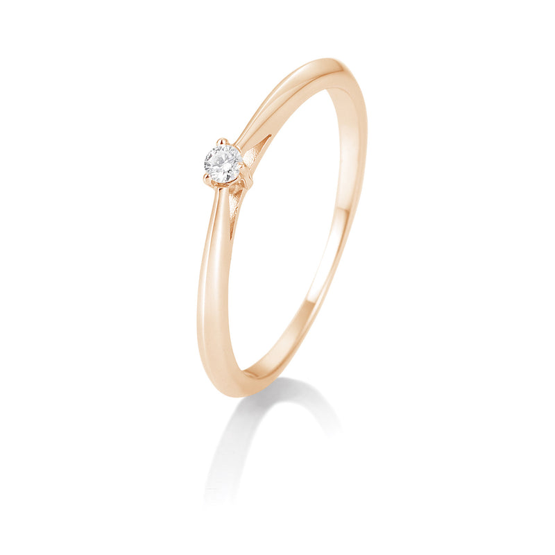 Solitaire-Ring · 3er Krappe · 0,05ct · 41857680