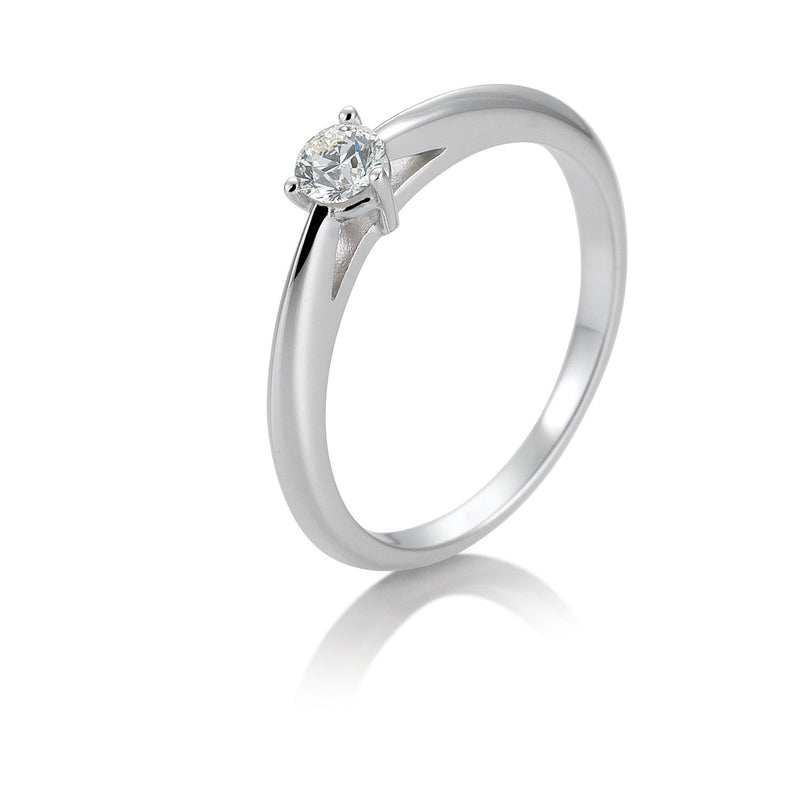 Solitaire-Ring · 3er Krappe · 0,20ct · 41858680