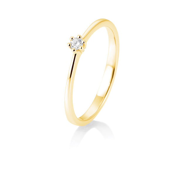 Solitaire-Ring · 6er Krappe · 0,05ct · 41857700