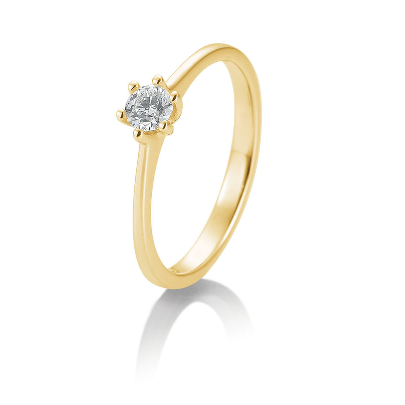 Solitaire-Ring · 6er Krappe · 0,40ct · 41848320