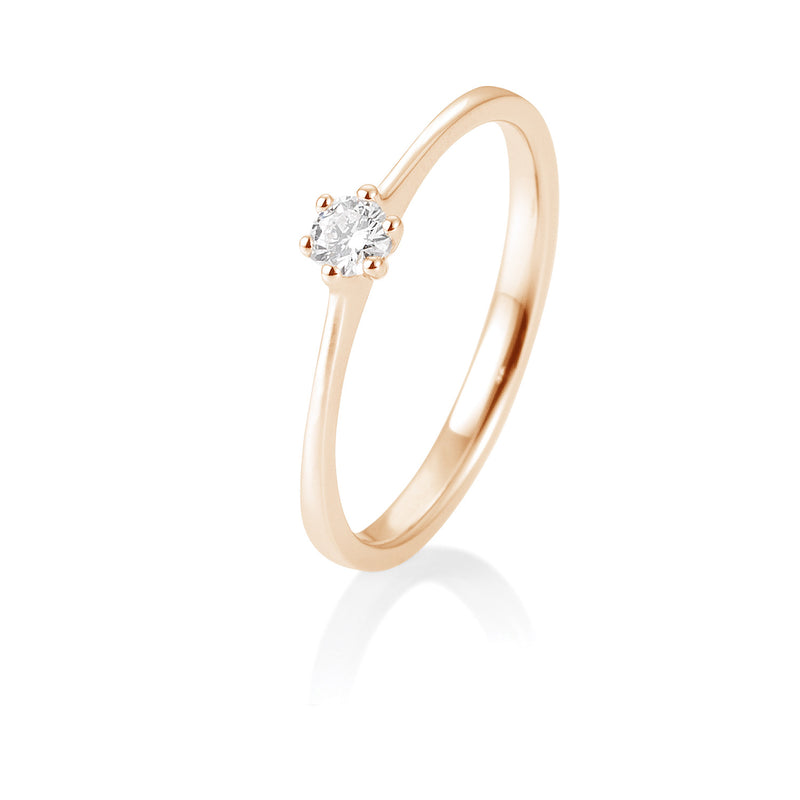 Solitaire-Ring · 6er Krappe · 0,10ct · 41821440