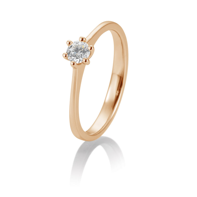 Solitaire-Ring · 6er Krappe · 0,20ct · 41858700