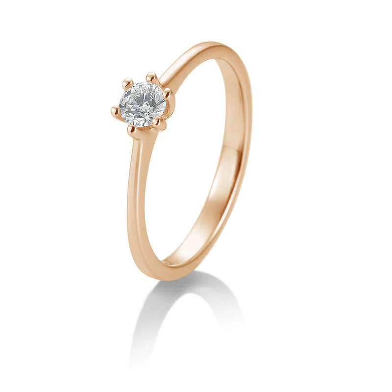 Solitaire-Ring · 6er Krappe · 0,30ct · 41848310