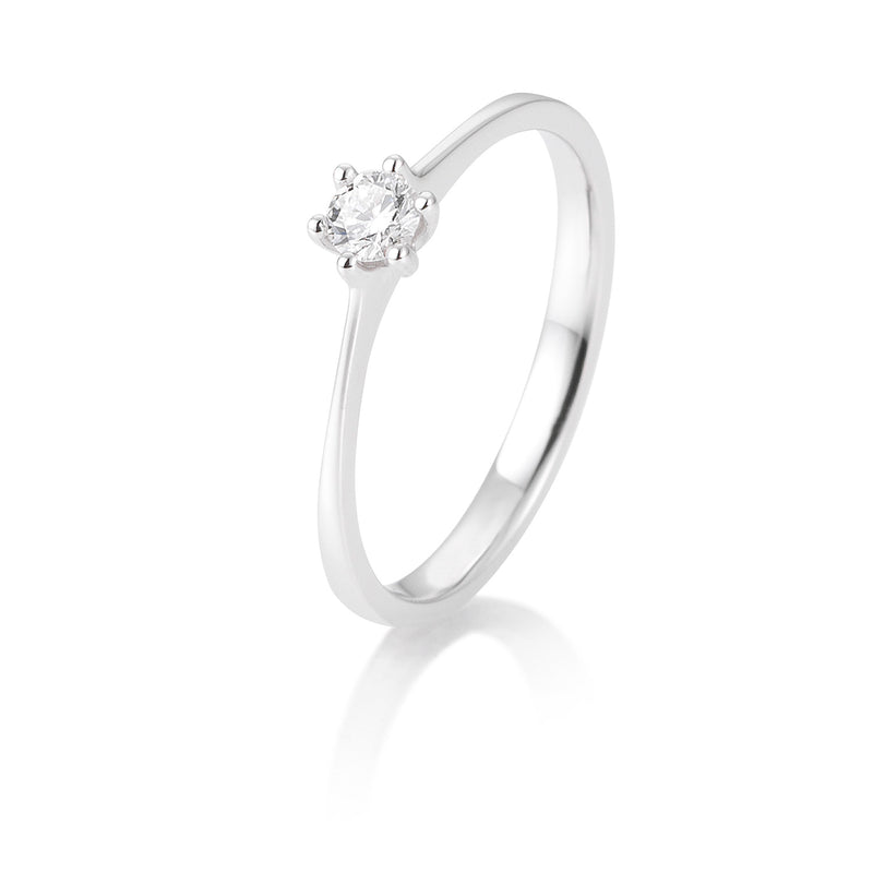 Solitaire-Ring · 6er Krappe · 0,15ct · 41821430