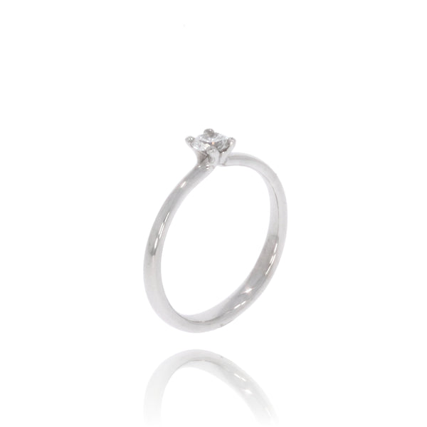 "Solitaire-Ring ""Welle medium"" mit 0,30ct. Diamant"